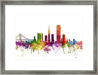 San Francisco Cityscape 06 Framed Print