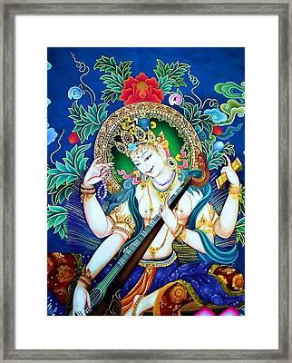 Saraswati 2 Framed Print by Lanjee Chee