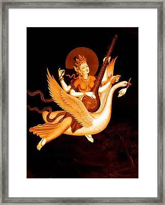 Saraswati 4 Framed Print by Lanjee Chee