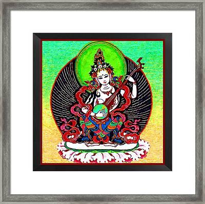 Saraswati 6 Framed Print by Lanjee Chee