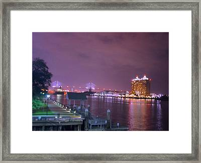 Savannah Riverfront Framed Print by Art Spectrum