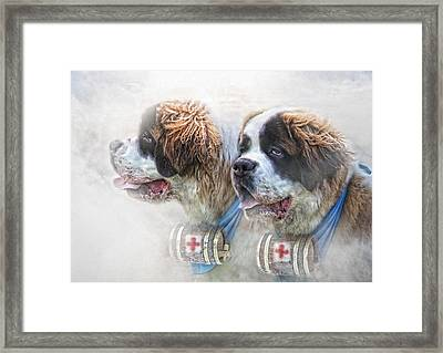 Saviours In The Snow Framed Print by Trudi Simmonds