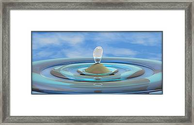 ' Sea Creature Descends ' - Digital Art Format Framed Print