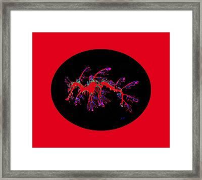 Sea Red Dragon  Framed Print by Sergey Lukashin