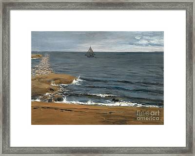Seascape The Light Of The Moon Framed Print