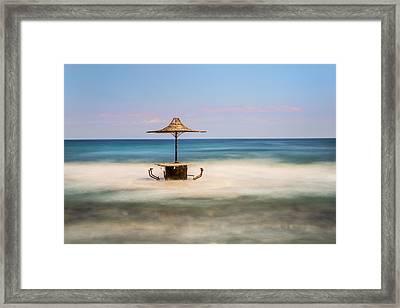 Seaside Bar Framed Print
