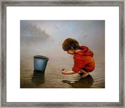 Beach Story 1 Framed Print