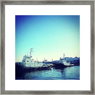 #船 #海 #ships #sea #sky Framed Print by Bow Sanpo