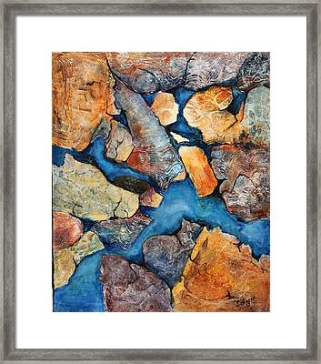 Shoreline Rocks Framed Print