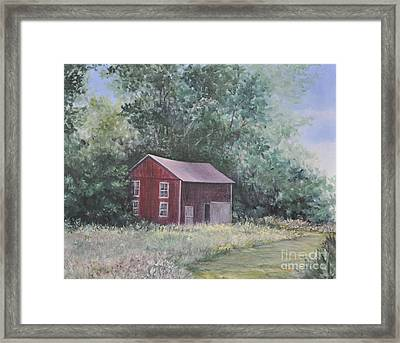 Shortys Shed Framed Print by Penny Neimiller