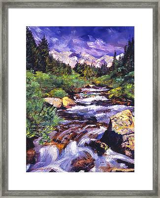 Sierra River Framed Print by David Lloyd Glover