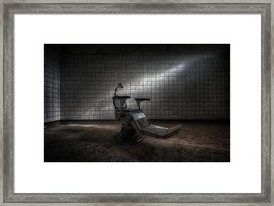 Sit Down Open Wide Framed Print