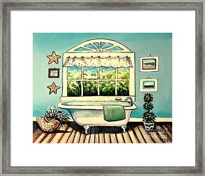 Soak In The Tub Framed Print by Elizabeth Robinette Tyndall