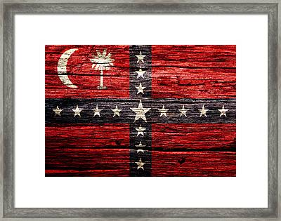 South Carolina Sovereignty Secession Flag 4w Framed Print by Brian Reaves