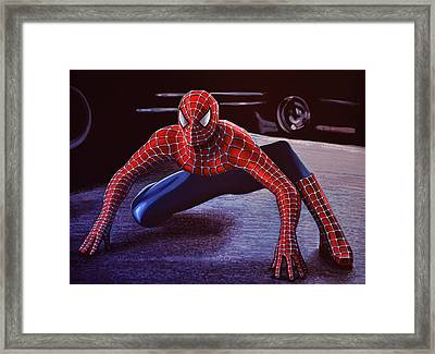 Spiderman 2  Framed Print by Paul Meijering