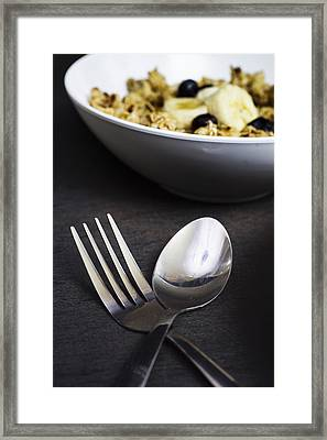 Spoon And Fork Framed Print by Donald  Erickson