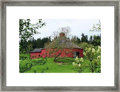 Spring At The Round Barn Framed Print by Ansel Price