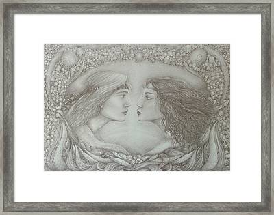 Spring Lovers With Snowdrops Framed Print