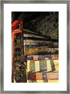 Stairway Framed Print by Betty LaRue