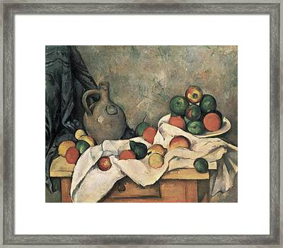 Still Life With Drapery Framed Print