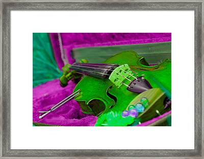 Still Life With Violine Framed Print by Dagmar Batyahav
