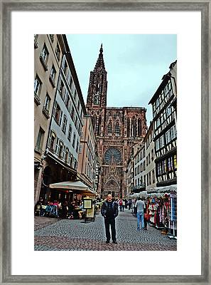 Strasbourg Cathedral. Selfie. Framed Print by Andy Za
