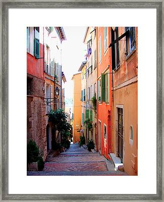 Streets Of Villefranche  Framed Print by Julie Palencia