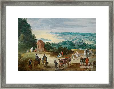 Stretch Riverside With Drawing Handlers Framed Print by MotionAge Designs