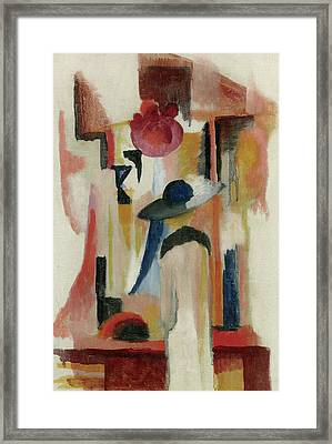 Study Of A Bright Shop Window Framed Print by August Macke