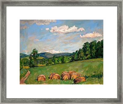 Summer Idyll Berkshires Framed Print