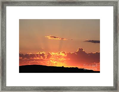 Framed Print featuring the photograph  Sunset by Edward R Wisell