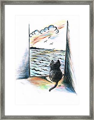 Cat's- Sweet View Framed Print