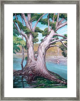 Sycamore On The Shenandoah River Framed Print by Frances  Dillon