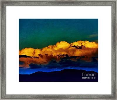 Taos Clouds II Framed Print