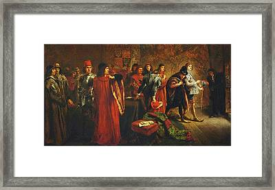 The Arrest Of Lord Hastings Framed Print