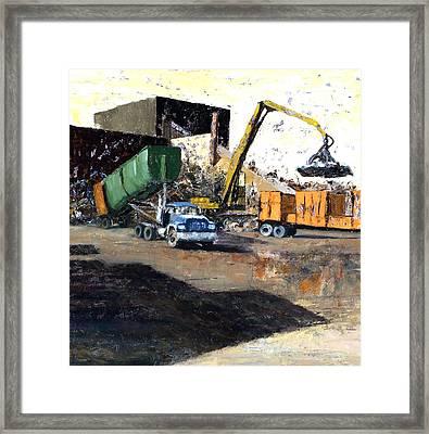 The Blue Truck Framed Print by Nancy Albrecht
