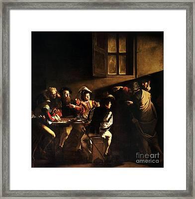 The Calling Of Saint Matthew Framed Print