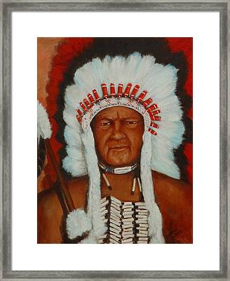 The Chief Framed Print by Merle Blair
