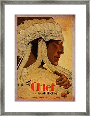 The Chief Train - Vintage Poster Vintagelized Framed Print