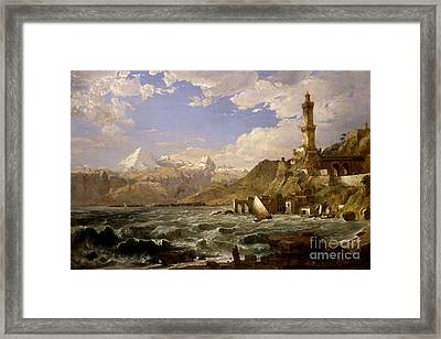 The Coast Of Genoa Framed Print by Celestial Images