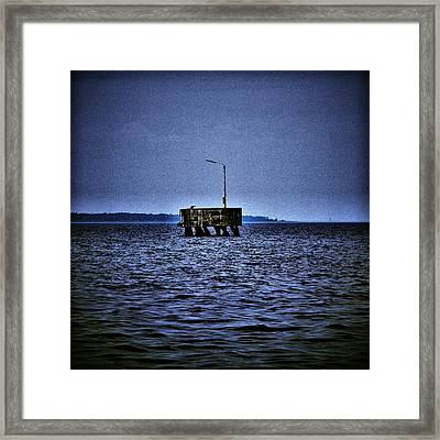 Framed Print featuring the photograph  The Dock Of Loneliness by Jouko Lehto