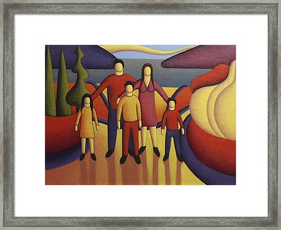 The Family Framed Print by Alan Kenny
