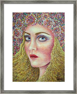 Framed Print featuring the painting   The Flower Girl by Natalie Holland