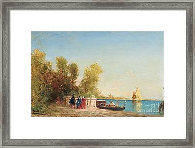 The French Gardens Of Venice Framed Print by Celestial Images