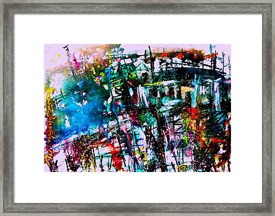 The Night Time Of Chaopraya River Framed Print