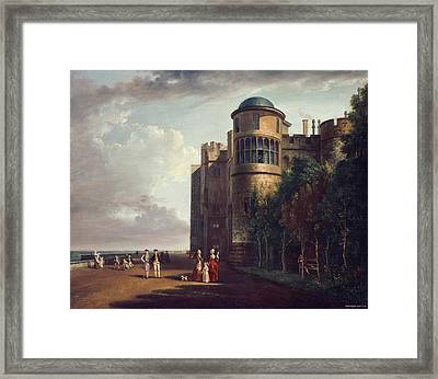 The North Terrace At Windsor Castle Looking East Framed Print by Paul Sandby