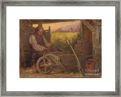 The Old Gardener Framed Print by Celestial Images
