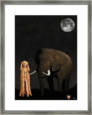 The Scream World Tour African Elephant  Framed Print by Eric Kempson