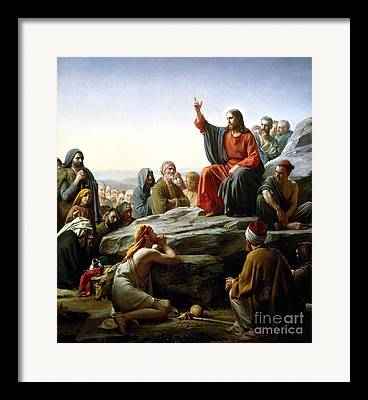 Sermon Carl Bloch Framed Prints