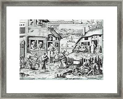 The Seven Deadly Sins Or The Seven Vices Framed Print by MotionAge Designs